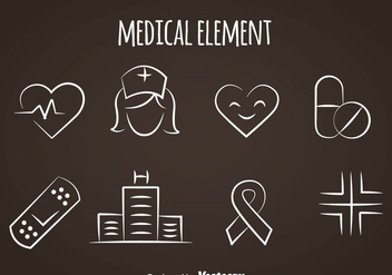 Medical Line Icons - vector gratuit #361533