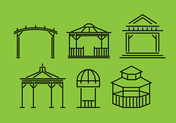Gazebo Vector Set - vector gratuit #361563
