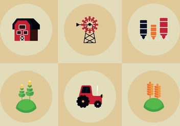 Free Farm Elements Vectors - vector gratuit #361573