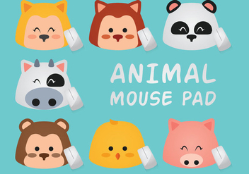 Animal Mouse Pad - Kostenloses vector #361593