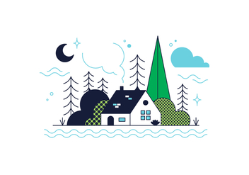 Free Wood House Vector - vector #361603 gratis