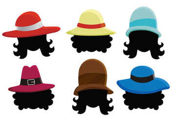 Ladies Hat Vector - Free vector #361653