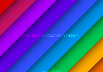 Free Vector Rainbow Background - Free vector #361823
