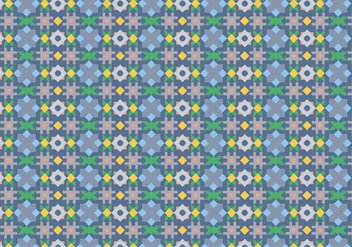 Abstract Tiling Pattern - vector gratuit #361833