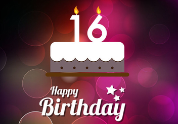 Free Sweet 16th Vector - vector #361863 gratis