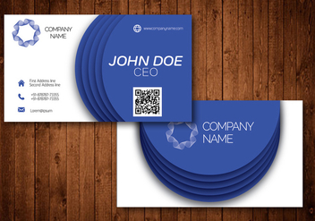 Blue Circle Creative Business Card - vector gratuit #361873