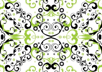 Green Floral Seamless Pattern Vector - бесплатный vector #361923