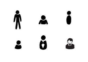 Free Man Icon Vector Series - Free vector #361953