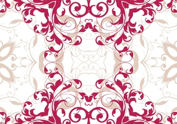 Magenta Seamless Floral Pattern - Kostenloses vector #361973