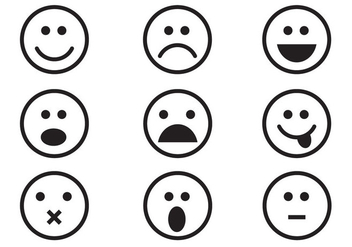 Free Emoticon Set Vector - Kostenloses vector #362163