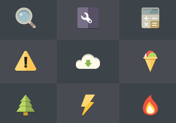 Free Flat Icon Set 04 Vector - vector gratuit #362193