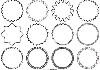 Assorted Circle Vector Shapes - vector gratuit #362253