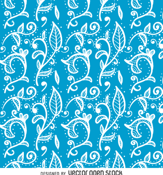 Flower swirls seamless backdrop - Free vector #362293