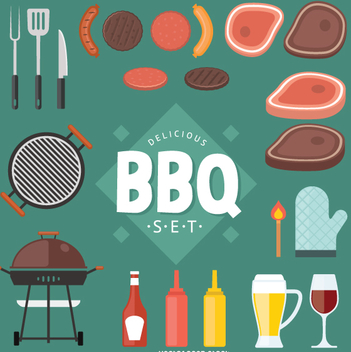 Fast food and BBQ vector set - vector gratuit #362343