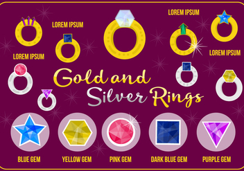 Free Gold And Silver Rings Vector - Kostenloses vector #362433