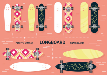 Free Longboard Vector Background - Free vector #362443