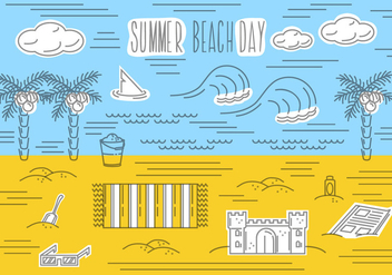 Free Summer Beach Vector Background - Free vector #362453