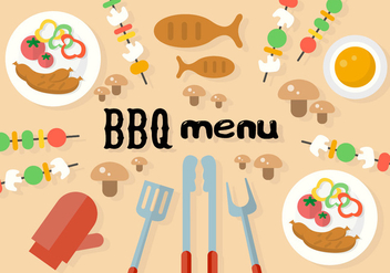 Free Barbecue Menu Vector - бесплатный vector #362493