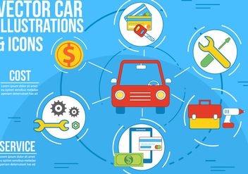 Free Vector Car Illustration and Icons - Free vector #362513