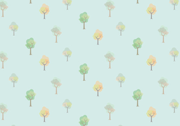 Watercolor Trees Vector Pattern - vector gratuit #362583