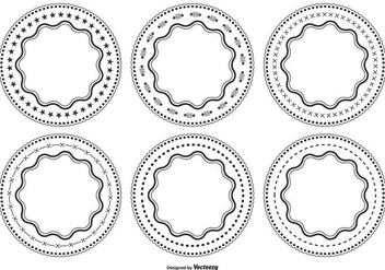 Decorative Circle Shape Set - Kostenloses vector #362603