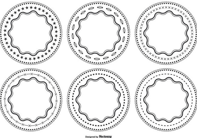 Decorative Circle Shape Set - vector gratuit #362603