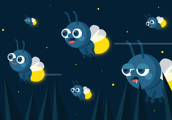 Vector Fireflies - Free vector #362673