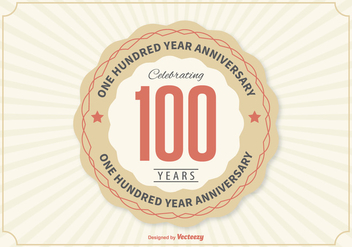 100 Year Anniversary Illustration - vector #362683 gratis