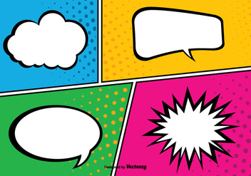 Comic Pop Art Style Background Illustration - vector gratuit #362713