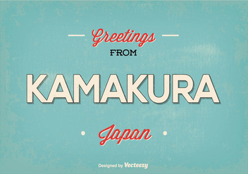 Kamakura Japan Greeting Illustration - Kostenloses vector #362733