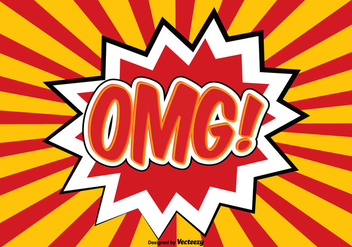 OMG Comic Style Illustration - Kostenloses vector #362743