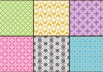 Batik Background Colorful Vectors - vector gratuit #362783