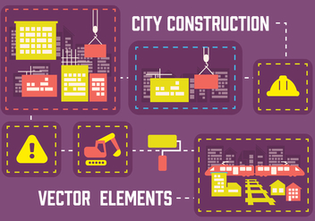 Free City Construction Vector Background - vector gratuit #362803