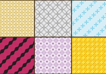 Batik Patterns Color - Free vector #362903