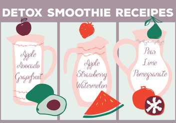 Free Smoothie Receipes Vector Background - vector gratuit #362923