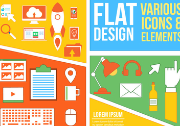 Free Mixed Flat Vector Icons - vector #362933 gratis