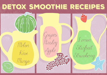 Free Smoothie Receipes Vector Background - vector gratuit #362943