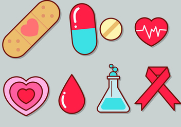 Cute Medical Icon Set 1 - Kostenloses vector #363063