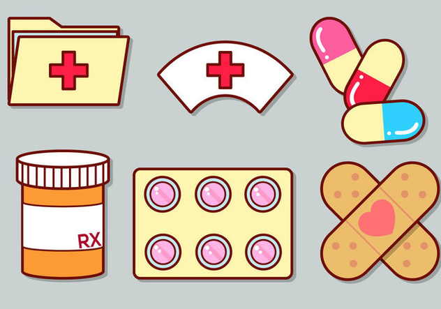 Cute Medical Icon Set 3 - Free vector #363073