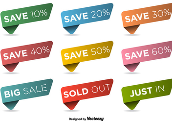 Discount Labels Vector Set - Kostenloses vector #363153