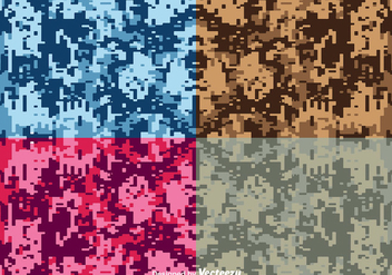 Vector Digital Camouflage Backgrounds - vector gratuit #363193
