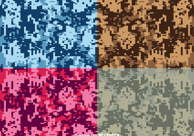 Vector Digital Camouflage Backgrounds - бесплатный vector #363193