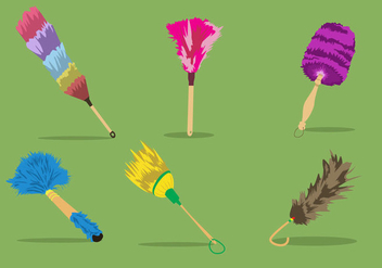Colorful Feather Duster - бесплатный vector #363203