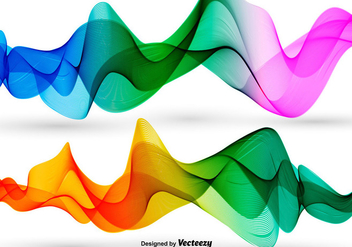 Vector Colorful Abstract Waves - Free vector #363233