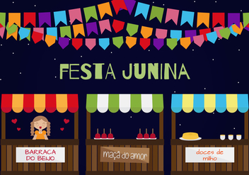 Festa Junina Vector - бесплатный vector #363313