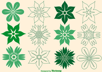 Vector Flower Icons - vector gratuit #363343
