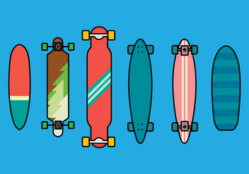 Longboard Vector Set 2 - бесплатный vector #363363