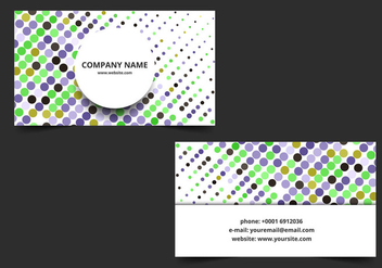 Free Vector Colorful Business Card - Free vector #363383