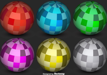 Abstract 3D Sphere Vectors - vector gratuit #363403