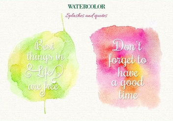 Free Vector Watercolor Splashes - vector gratuit #363413